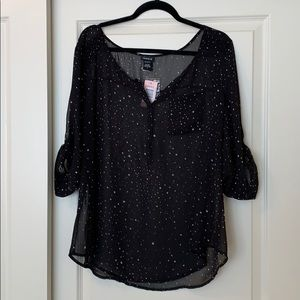 Torrid blouse with stars - Size 1